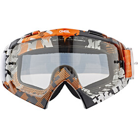 O'Neal B-10 Goggles pixe orange/white-clear